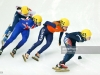 on day one of the ISU World Short Track Speed Skating Championships at the Krylatskoe Speed Skating Centre on March 13, 2015 in Moscow, Russia.