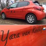 Nieuwe SPONSOR auto voor Yara!